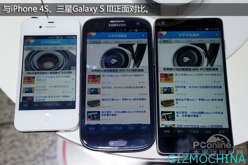 Iphone 4s & Galaxy S 3 & Nubia Z5
