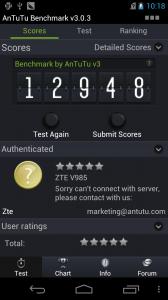 ZTE Grand Era результаты теста производительности