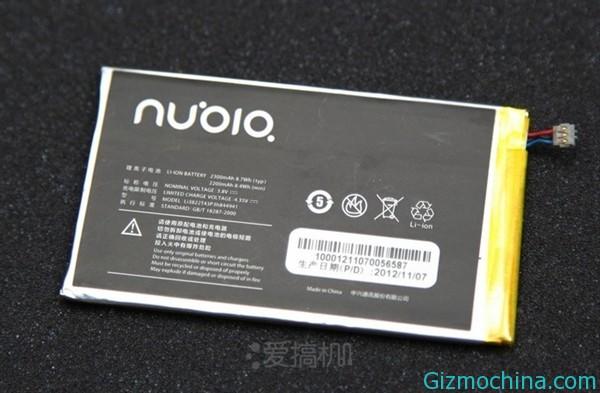 Емкость аккумулятора ZTE Nubia Z5 - 2300mAh, напряжение 3.8V, мощность 8.74Wh.