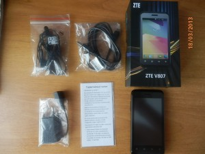 Комплектация ZTE Blade C V807