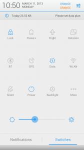 Скриншот прошивки Lewa OS
