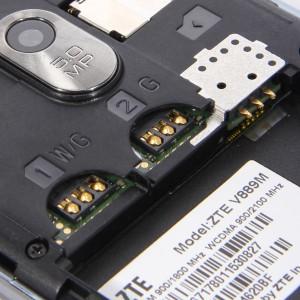 Расположение Sim-слотов в ZTE V889M