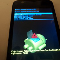 Hard Reset ZTE V880G (Android system recovery)