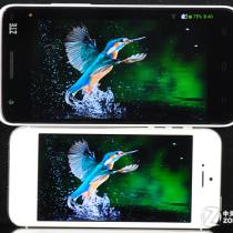 Сравнение дисплеев ZTE Grand S vs Iphone 5