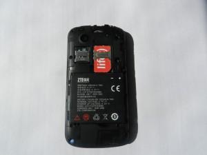 ZTE Libra со снятой крышкой