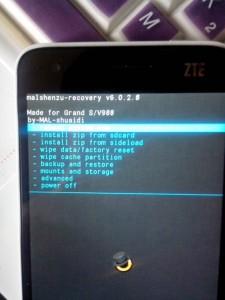 CWM/malshenzu recovery для Grand S (V988)