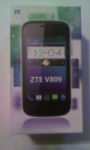 Коробка смартфона ZTE V809 Blade C2