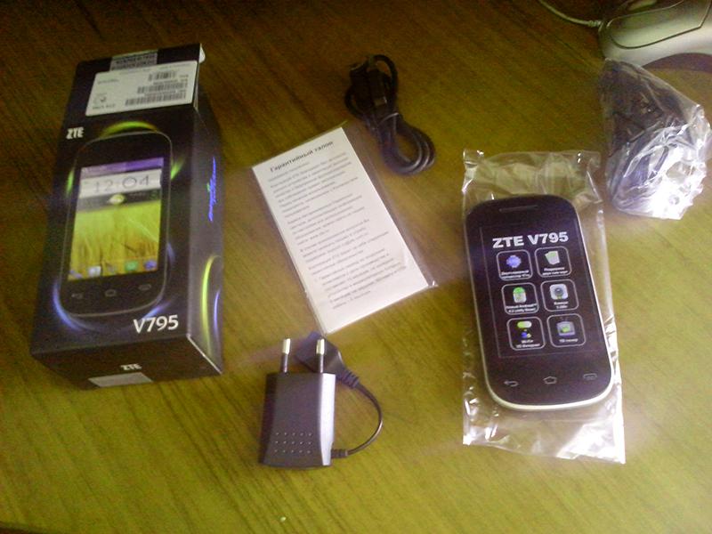 Комплектация ZTE V795