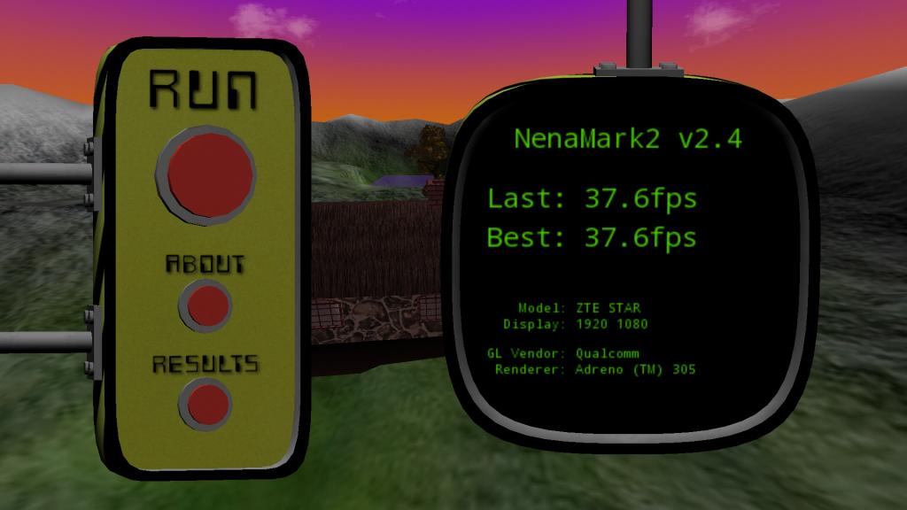ZTE Star 1 - результат теста Nenamark v2.4